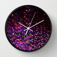 sparks of love Wall Clock by Marianna Tankelevich