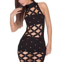 Sexy Black Cocktail Dress H763
