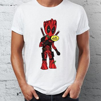 Deadpool Dead pool Taco Men's T Shirt I am Groot  Crossover Guardians of Galaxy Tee AT_70_6