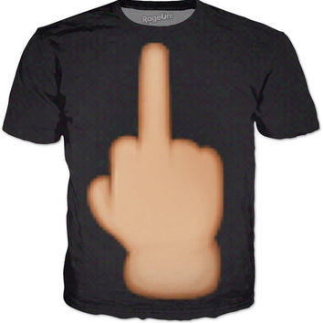 Middle finger t shirt - black