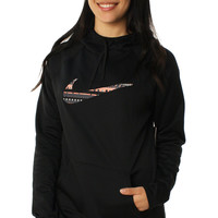 Nike Women's All Time 8 Bit Pullover Training Hoodie