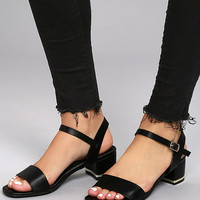 Lila Grace Black High Heel Sandals