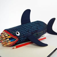 Shark Bag - Love Bites Pencil Case Geeky Gift for Guys - Office Desk Supplies - Awesome Boys Gift: MinneBites Rainbow Leopard Shark Bite
