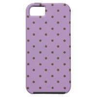African Violet And Brown Polka Dots Pattern iPhone 5 Covers from Zazzle.com