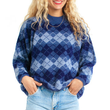 Vintage 90's Argyle Beguile Pullover - One Size Fits Many