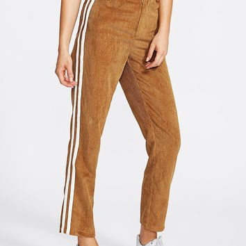 Burnt Orange Corduroy Pants