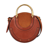 Chloé Brown Small Pixie Handle Bag - Brown Small Pixie Handle Bag