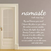 Wall Decals Quotes Vinyl Sticker Decal Art Home Decor Mural Buddha Quote Wall Decal Sign Words Namaste Yoga Mandala Bedroom Dorm Gift AN721