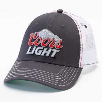 Coors Light Trucker Hat - Men, Size: One Size (Grey)