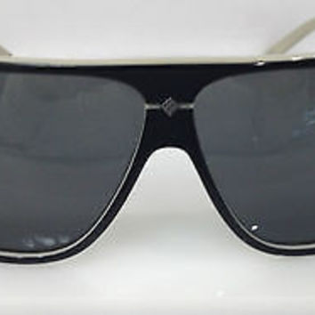 POLAROID PDX8206 COLOR BLACK PLASTIC AVIATOR POLARIZED SUNGLASSES FRAME NEW 63MM