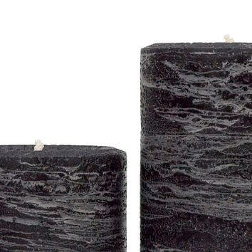Black Pillar Candle | Onyx Rustic