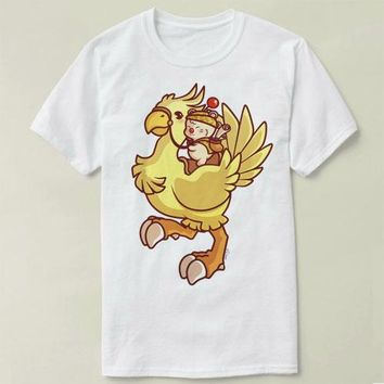 chocobo rider Final Fantasy XV 2017 New T Shirt Printed T-shirt Women Men Funny Clothing Tee Shirt Casual T Shirt cmt