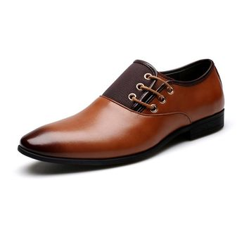 Round Toe Flat Business British Lace-up shoe