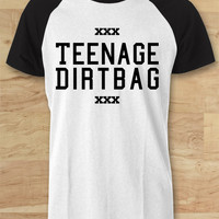 One Direction Teenage Dirtbag Raglan Tee - SWD Raglan Tees  / Custom - Raglan / Baseball T-Shirt