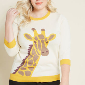 The Neck of Time Giraffe Sweater in XS