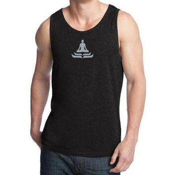 Yoga Clothing for You Mens Lotus Pose Cotton Tank Top