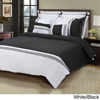Luxor Treasures Emma Wrinkle Resistant 7-piece Duvet Cover Set | Overstock.com Shopping - The Best Deals on Duvet Covers