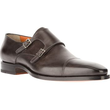 Santoni Double Monk Strap Loafer