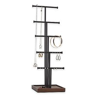 Umbra® Gemma 5-Tier Jewelry Stand in Natural/Black