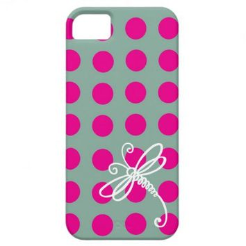 Pink Polkadot Dragonfly Art Case-Mate iPhone 5 from Zazzle.com
