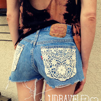 RESERVED Vintage Levis Denim High Waist Cut by UnraveledClothing