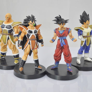 "4x Dragonball Dragon Ball Z Lot 4"" Action Figure GOKU SON GOKOU Set of 4pcs"