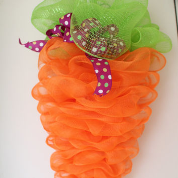 Easter Bunny Carrot. Easter Carrot  Wreath. Carrot Wreath Carrot Wreath for Easter, Mesh Wreath Easter Wreath,  Carrot, Wreath, Deco Mesh