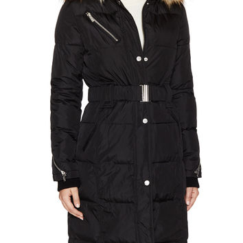 Rachel Rachel Roy Women's Cargo Zip Hood Jacket - Black -