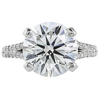 5.06 Carat Cert Round Brilliant Diamond Platinum Solitaire Ring