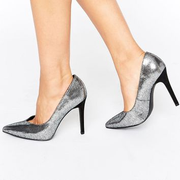 New Look Wide Fit Metallic Pointed Heel