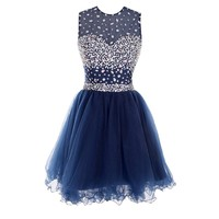 Miya Short Tiered Prom Dresses Cute Evening Gowns