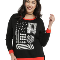 Twenty One Pilots Red Trim Girls Sweater Plus Size