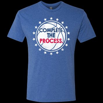 Philly Hoops Inspired Complete the Process Men's Triblend T-Shirt