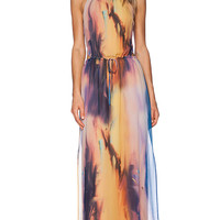 Rory Beca Lauren Maxi Dress in Peach