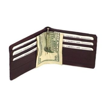 Eel Skin Money Clip and Credit Card Wallet