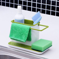 New Arrival Sink Draining Brush Sponge Cleaning Cloth Towel Rack Washing Holder Kitchen Tidy Stand