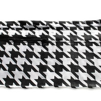 Vendor Apron Server Apron Travel Apron Black White Houndstooth Twill