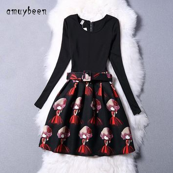 Amuybeen  New Year Kid Summer Christmas Princess Casual Solid Party Girls Dress Children Clothes Baby Grid Girl Long Dresses