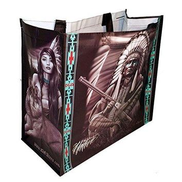 DGA Day of the Dead Art Shopping Tote Bag Reusable - Original Native American