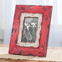 Distressed Red Picture Frame - Home Decor - Home