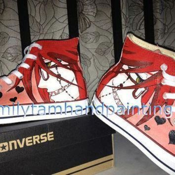 QIYIF hand paint converse shoes custom anime converse kicks