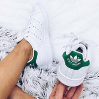 Adidas Women Fashion Casual Sport Print Flats Sneakers Sport Shoes