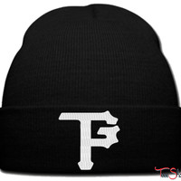 taylor gang pitsburg white beanie knit hat