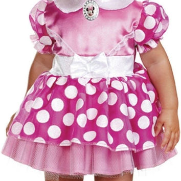 Disguise Baby's Disney's Mickey Mouse Minnie Mouse Costume Pink/White