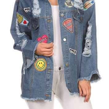 Denim, Waist Length Jacket In A Loose Fitting Style JA1601