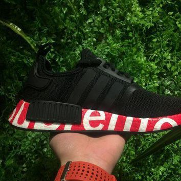 PEAPUX5 Supreme Sup x Adidas NMD R1 Black/Red Runner PK Boost Fashion Trending Sport Running Shoes Casual Shoes Sneakers-1