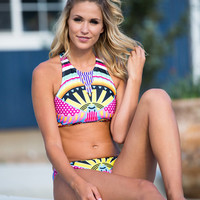Seas Every Opportunity Bikini TOP Yellow