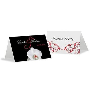 Classic Orchid Place Card With Fold Plum (Pack of 1)