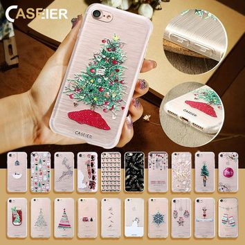 CASEIER Christmas Phone Case For iPhone 6 6s Plus Lovely Relief Capa Soft TPU Coque For iPhone 6 6s Plus Fundas Capa Accessories