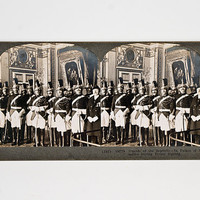 Keystone Stereoview Guards at the Signing of the Treaty of Versailles, 1919